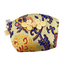 Set of 2 Traditonal Chinese Embroidered Jewelry Coin Pouch Bag Wallet Purses   Q