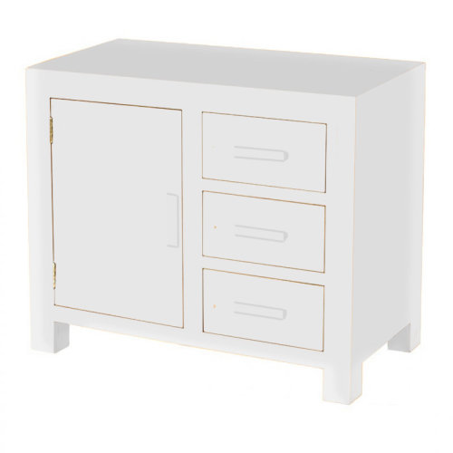 White Cube Small Oak Sideboard