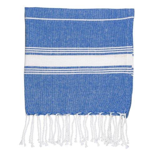 Nicola Spring 100% Turkish Cotton Micro Hand Towel | Travel Gym Kitchen Hammam Peshtemal Fouta Style Tea Cloth - Navy