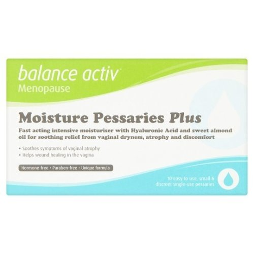Balance Activ Moisture Pessaries Plus - 10 x 2g | Vaginal Dryness Treatment