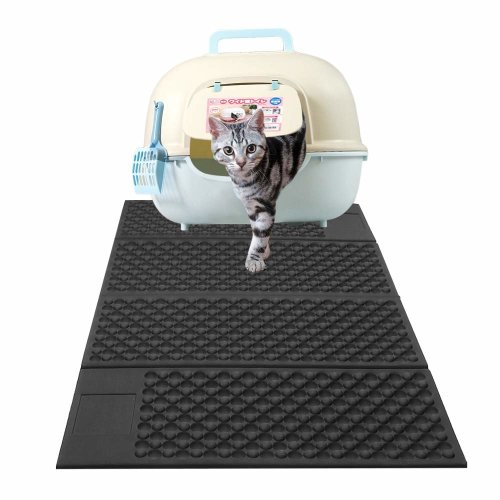 Zellar Portable Cat Litter Mat(Large)-Double-Sided Using Cat Feeding Mats, Litter-Trapping+Water-Proof+Folding+Non-Toxic Soft EVA Foam...