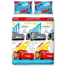 Disney Cars 3 Lightning Double Duvet Cover Set Polyester