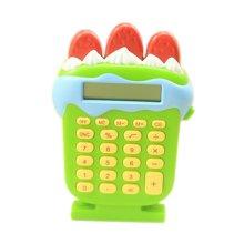 8 Digits LCD Display Strawberry ice cream Shape Business Mini Calculator, Green