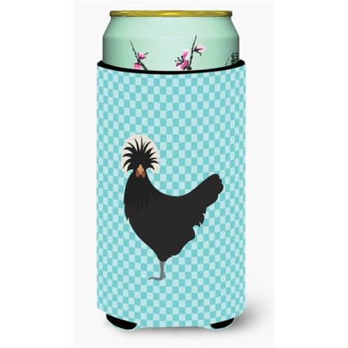 Carolines Treasures BB8008TBC Polish Poland Chicken Blue Check Tall Boy Beverage Insulator Hugger