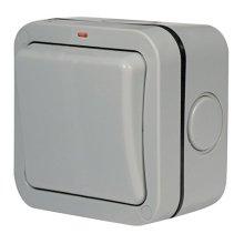 Masterplug WP12 20 A 1-Gang 2-Way Storm Weatherproof Outdoor Switched Single Gang Socket