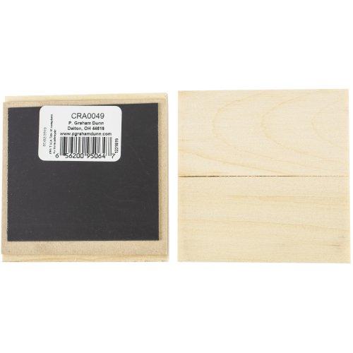 "Craft Decor Wood Shape W/Magnet 12/Pkg-3""X3""X.08"""