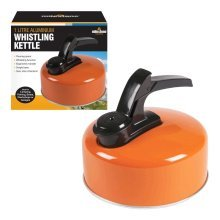 Milestone Whistling Kettle 1L Electric Gas Hob Stove Camping Lightweight Durable