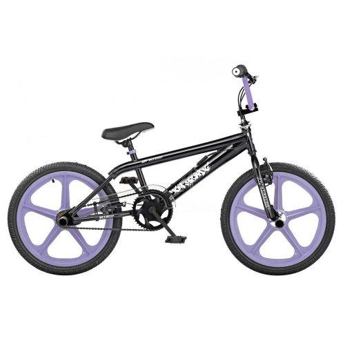 """XN Skyway Freestyle Kids 20"""" 5 Spoke Lavender Mag Wheels BMX Bike Gyro XN54"""