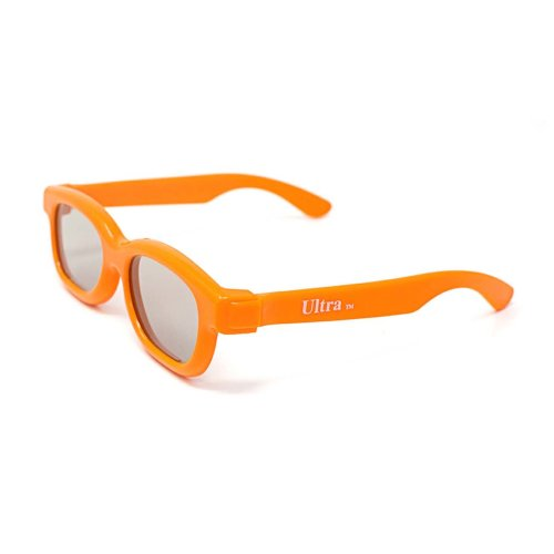 Ultra 1 to 5 Pairs of Orange Childrens Passive 3D Glasses for Kids Polorized Eyewear Universal for Passive Cinema and Projectors Such as RealD Toshiba LG Panasonic Sony TVs