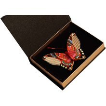 Hand Painted Butterfly Wooden Comb Phoebe Comb