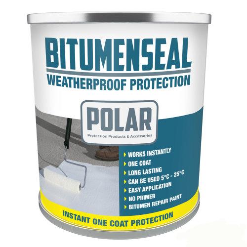 Polar Bitumenseal Bitumen Roof Repair Paint - 5KG | Waterproof Roof Paint