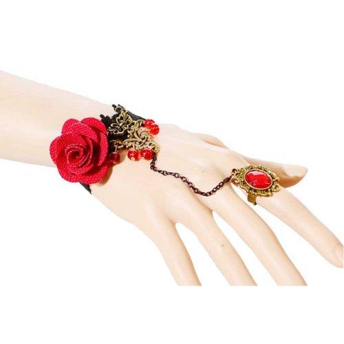 Complex Gulei Si Crystal Gemstone Bracelet Ring Jewelry, Ruby
