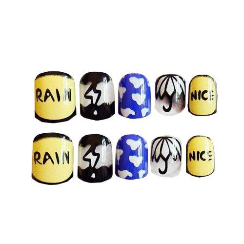 24 PCS Cute Wedding Bride Bling False Nails Art Nails Sticker