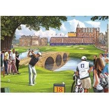 Falcon Deluxe the 18th Hole Jigsaw Puzzle (500 Pieces)