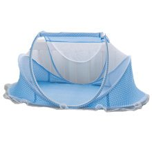 Foldable  Insect Netting Cribs Mosquito Net Baby Yurts-Blue