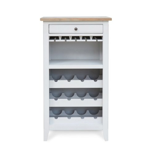 Grey Painted Wine Rack Cabinet