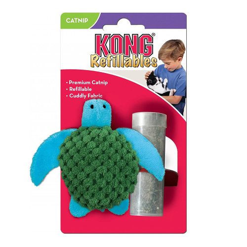 Kong Cat Refillable Catnip Turtle Cat Toy
