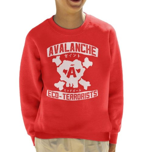 Avalanche Eco Terrorists Final Fantasy VII Kid's Sweatshirt