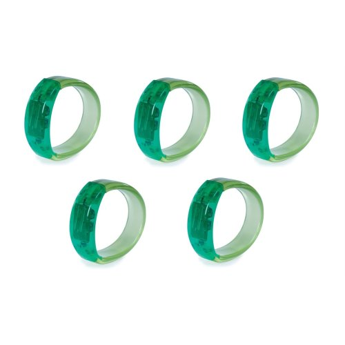 Bundle - 5 X Gel Stone Light-up Bracelet - Green - 5 Items Supplied