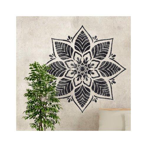 KERALA Mandala Furniture Wall Floor Stencil for Paint