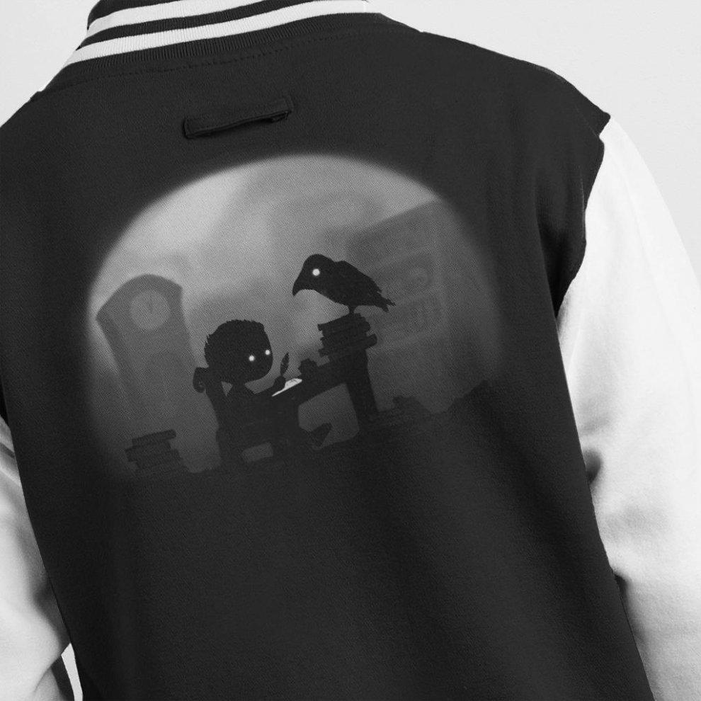 100% authentic 80455 8b757 Nevermore Raven Men's Varsity Jacket