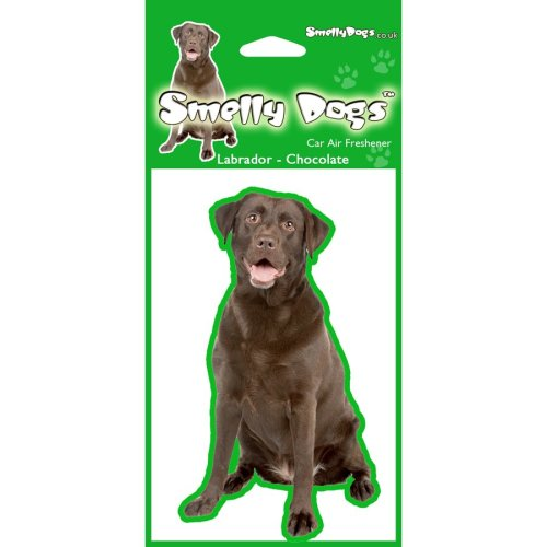 Labrador Chocolate Air Freshener - 4 individually wrapped fresheners ideal for you Car, House or Caravan.