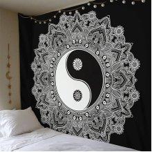 YingYang Mandala Tapestry Wall Hanging
