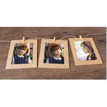 5 Pcs Retro Creative Hanging Paper Photo Frame Wall Photo Frame Kraft Paper