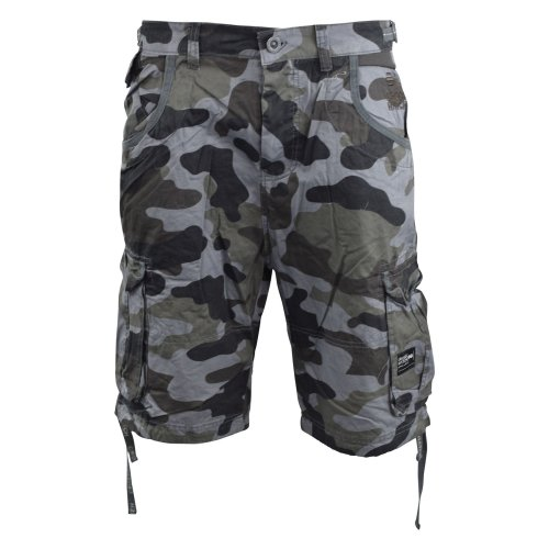 Mens cargo short crosshatch camo ryehill