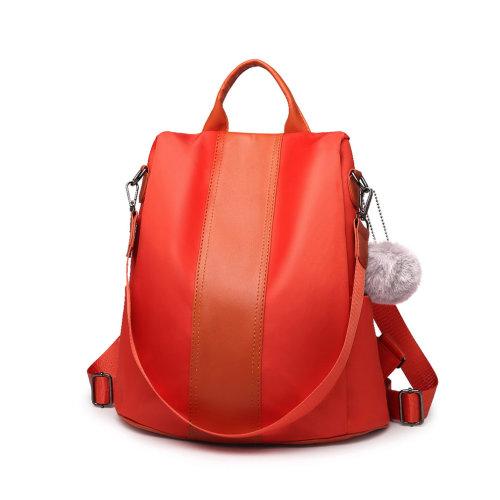 3e4ad82ed Miss Lulu Women Anti-theft Backpacks Girls Fur Ball School Bags Waterproof  Daypack Rucksack Orange on OnBuy