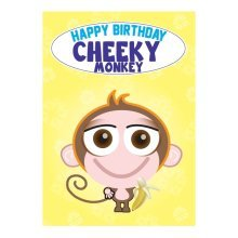 Birthday Card - Cheeky Monkey