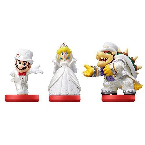 Triple Pack Mario Peach And Bowser Wedding Outfits Amiibo Super Mario Odyssey Nintendo Wii U Nintendo 3ds Nintendo Switch