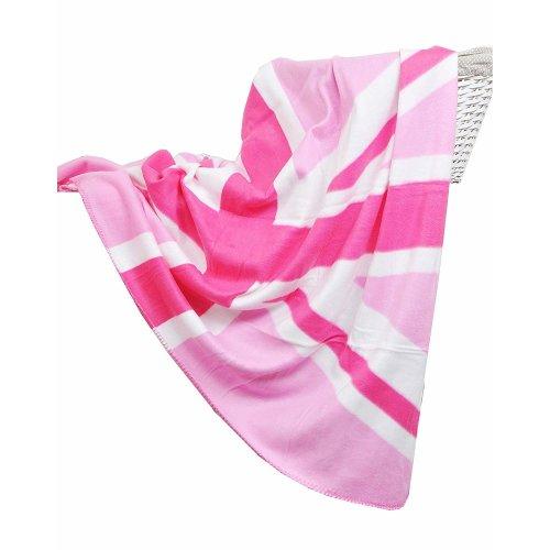 Luxury Soft Fleece Throw Pink Union Jack Blanket - Size 127 x 152cm