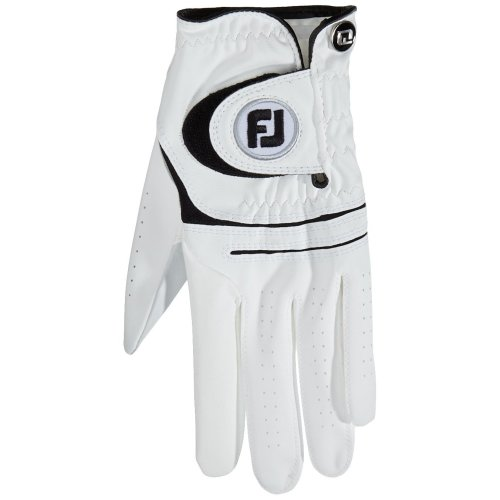 FootJoy WeatherSof Golf Gloves, White, M - pack of 2