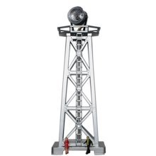 Model Power Searchlight Tower And Lighted With Two Figures (Assembled)