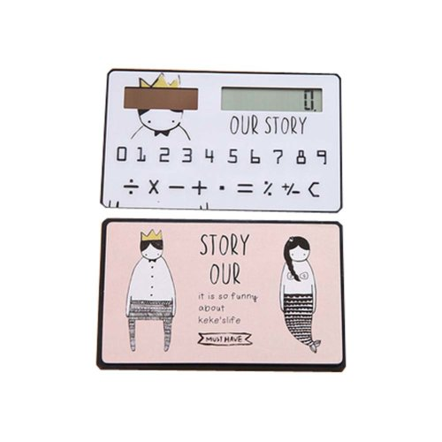Creative Mini Solar Card Calculator Child Count  Toy/Office Supplies,B1