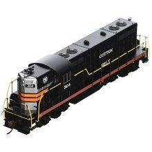 Bachmann Industries EMD GP7 DCC Cotton Belt #304 Equipped Locomotive (HO Scale), Black Widow