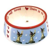 Small Cupboard Love Ceramic Dog Bowl -  ceramic dog bowls cupboard love accessories cat
