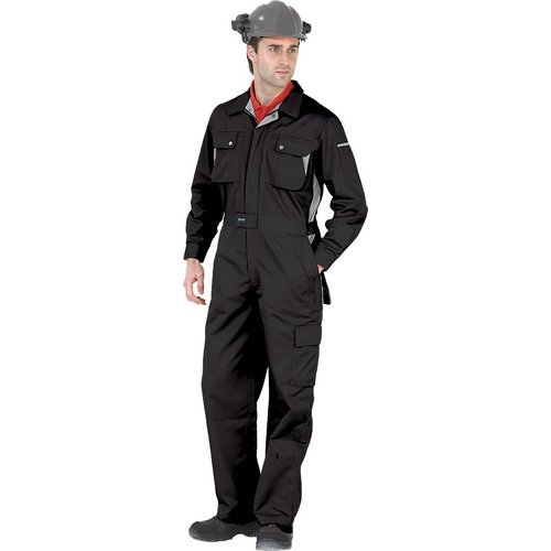 """Click CPCBL36 Premium Coverall Boiler Suit With Internal Knee Pad Pockets Black 36"""""""