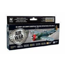 Val71182 - Av Vallejo Model Air Set - Us Air Corps Eto Wwii (x8)