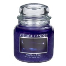 Village Candle 16oz Scented American Medium Jar Candle with Double Wick Wish Upon A Star