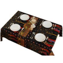 Exotic Tree of Buddha Burlap Tablecloth, 140 By 200CM