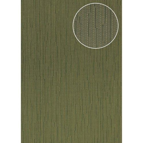 Atlas COL-497-6 Unicolour wallpaper shimmering olive-green 5.33 sqm