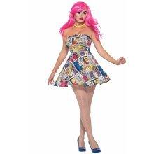 Forum Novelties 76718 Pop Art Dress (uk 10-12)