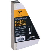 "Lineco Self-Stick Chipboard Easel Backs 25/Pkg-White Single-Wing 7"""