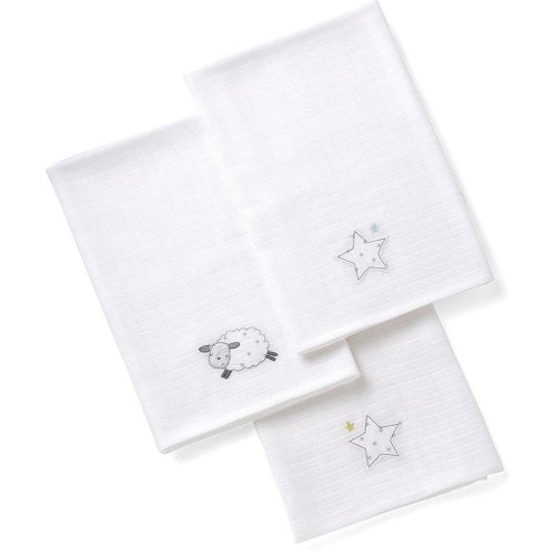 Silver Cloud Counting Sheep Muslins