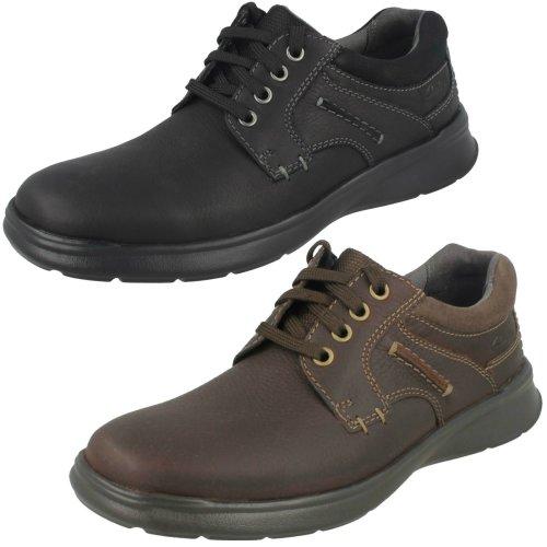 Mens Clarks Casual Shoes Cotrell Plain - H Fit