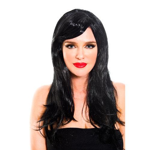 Black wig BLACK  Ladies Lingerie Wigs - Music Legs