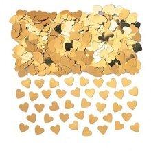 Sparkle Hearts Gold Metallic Confetti 14g -