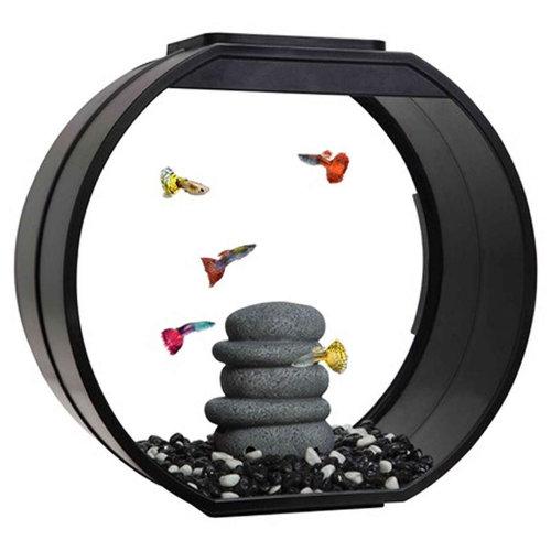 Fish R Fun Deco O Fish Tank | Black LED Aquarium 20L